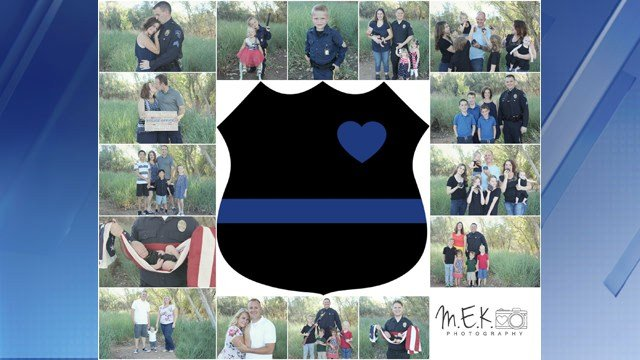 A Valley photographer is offering free photo sessions to police officers. (Source:  M.E.K. Photography)