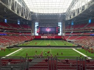 Cardinals fans can watch training camp from the seats at University of Phoenix stadium in Glendale. (Photo by Matt Faye/Cronkite News)