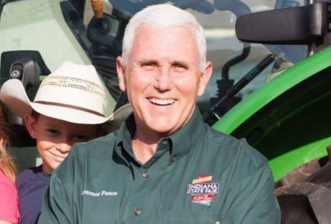 Republican vice presidential nominee Mike Pence .