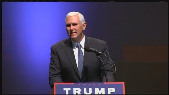 Indiana Gov. Mike Pence made his first of two Arizona stops in Tucson Tuesday afternoon. (Source: KPHO/KTVK)