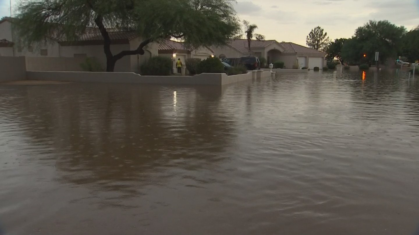 The floodwater was up to 4 feet deep in some places. (Source: KPHO/KTVK)