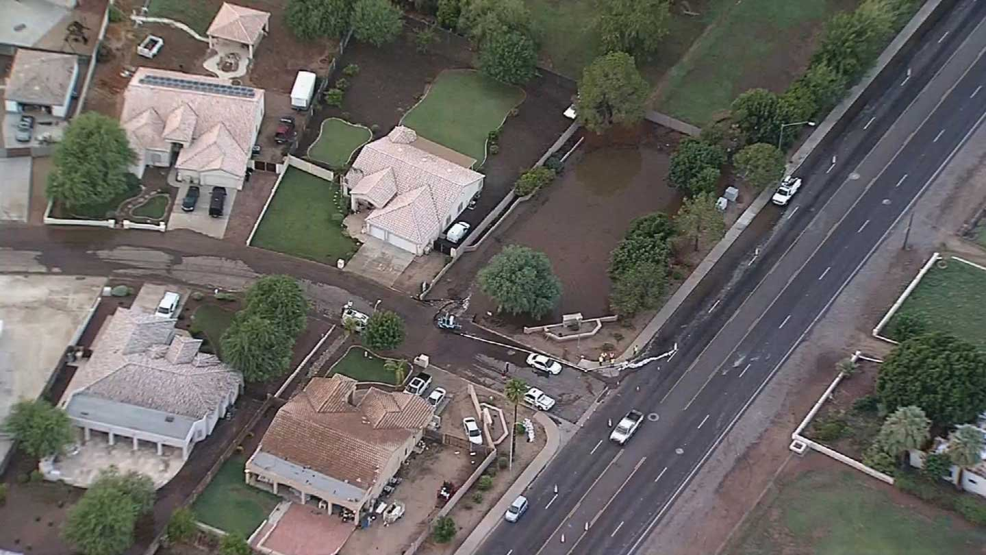 A neighborhood in Glendale was hit hard by floodwaters. (Source: KPHO/KTVK)