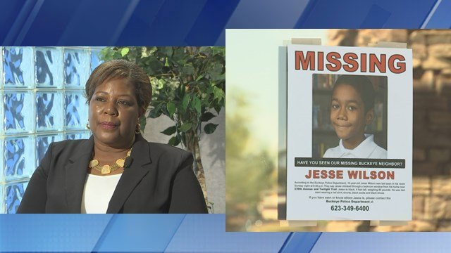 Cynthia Lauderdale, left, claims to be the grandmother of  missing Buckeye boy Jesse Wilson. (Source: KPHO/KTVK)
