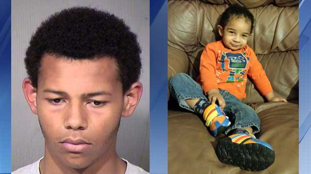 Shae Holloway is accused of stabbing his baby brother, Princeton, to death. (Source: Maricopa County Sheriff's Office and Robert Culp)