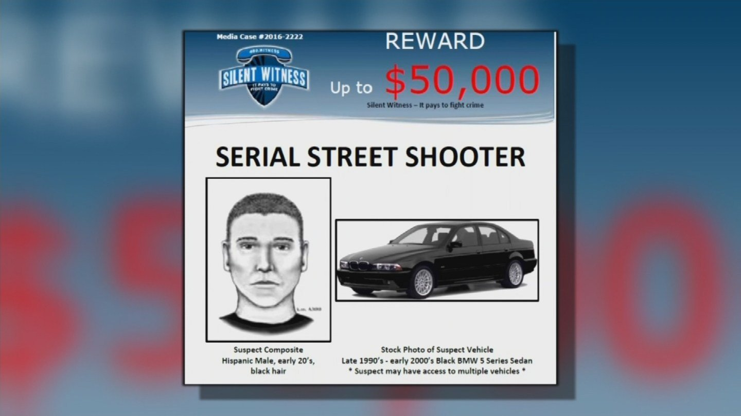 The manhunt continues for the person behind a series of nine shootings that left seven people dead and two others injured. There is a reward of up to $50,000 for information leading to an arrest.(Source: KPHO/KTVK)