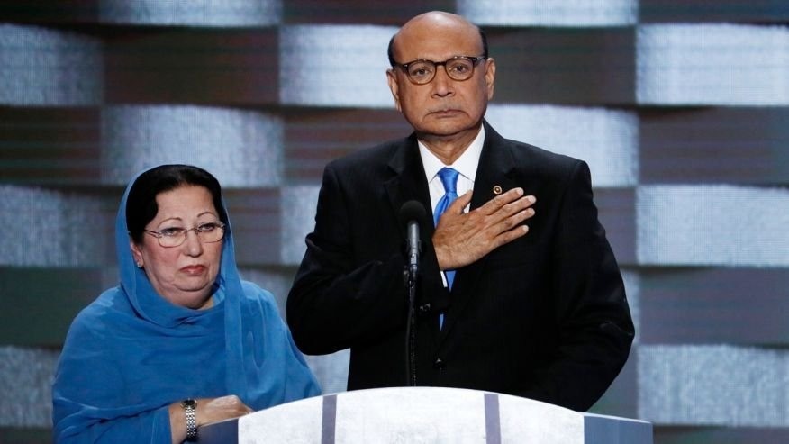 GOP presidential nominee Donald Trump slammed the Khan family following their appearance at Democratic National Convention.(Source: AP Photo)