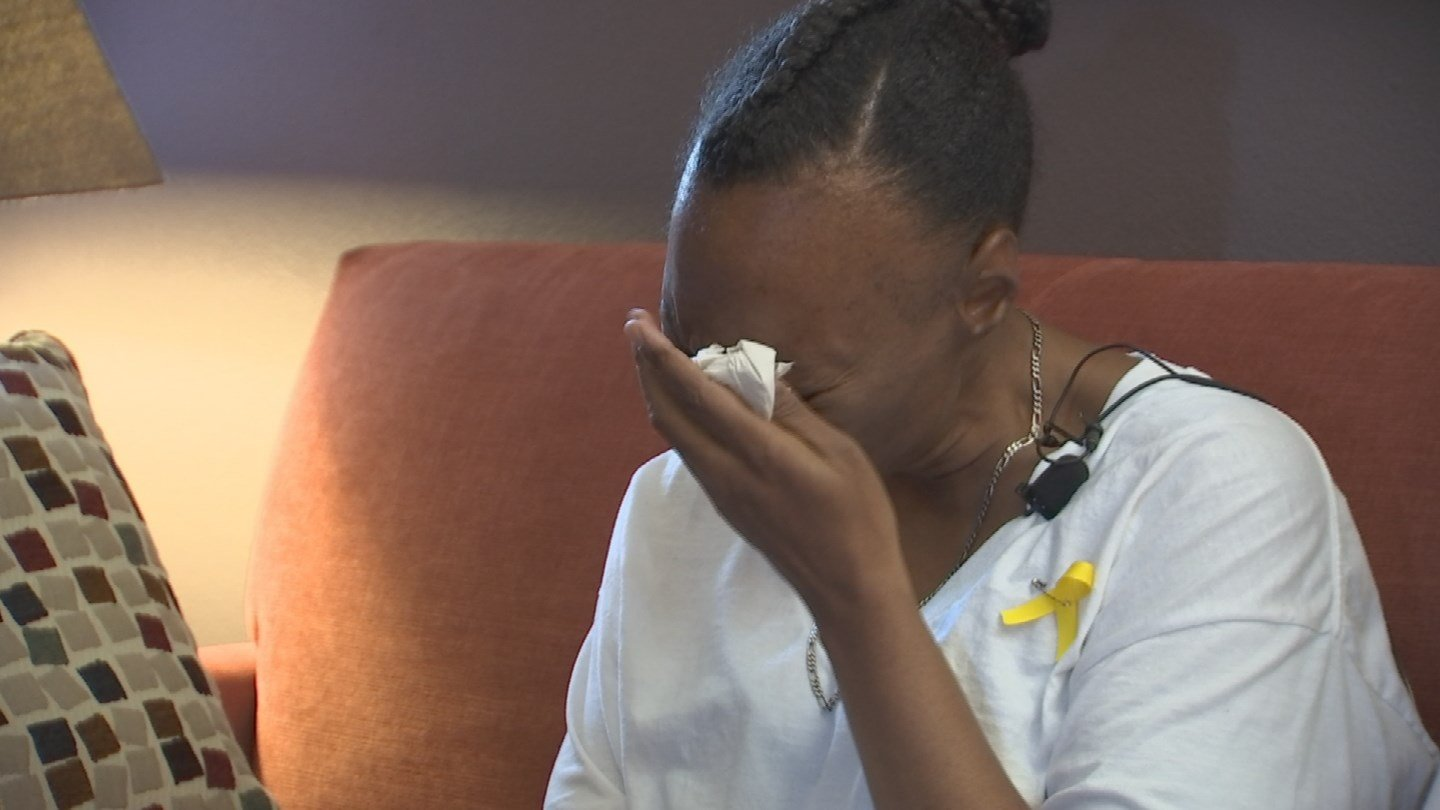 Crystal Wilson, Jesse's mom, made a tearful plea for him to return shortly after he vanished last month. (Source: KPHO/KTVK)