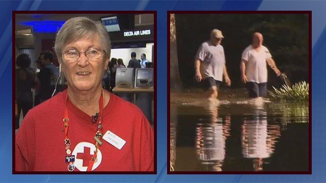 Local Red Cross volunteers help Louisiana flood victims