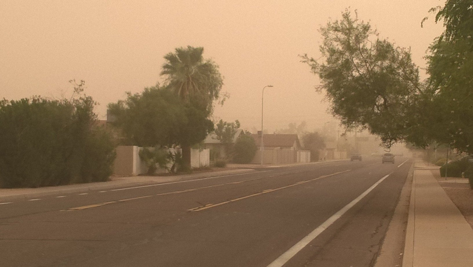 The wall of dust moved through Tempe. (Source: Satya Mahapatra)