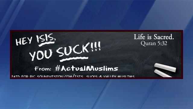 ISIS Billboard In Phoenix, Sponsored By Muslim Community