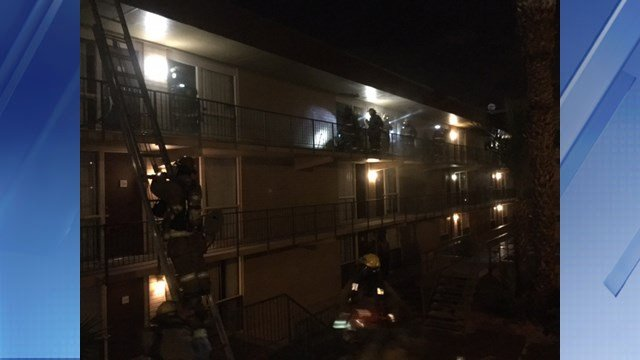A dog died in an apartment fire late Monday night. (Source: Phoenix Fire Department)
