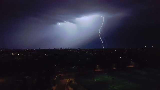 Lightning near Van Buren and 44th streets (Source: Viewer Photo/Mike Stafford)