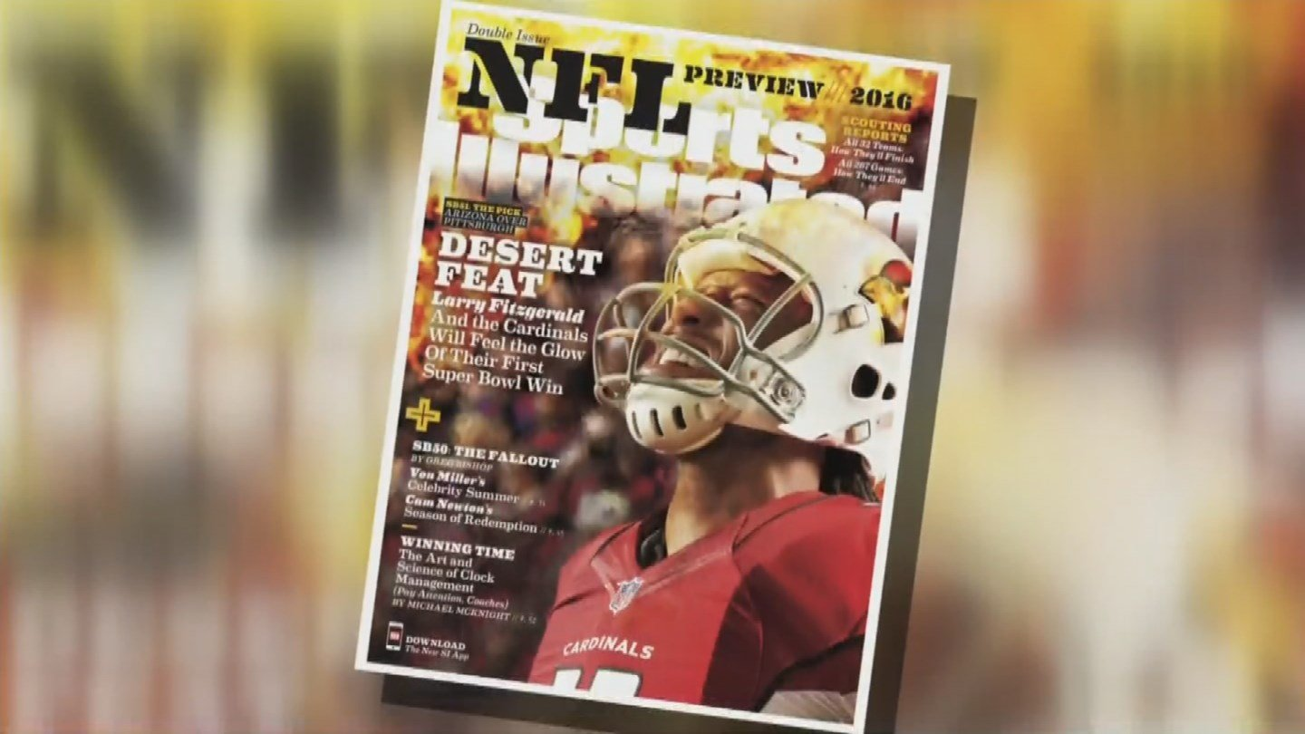 "Arizona's Larry Fitzgerald is featured on one of four regional covers of ""Sports Illustrated."" (Source: KPHO/KTVK)"