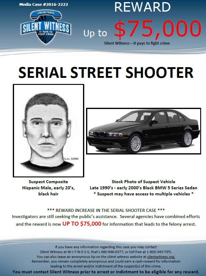 Suspect sketch and vehicle description (Source: Phoenix Police Dept.)