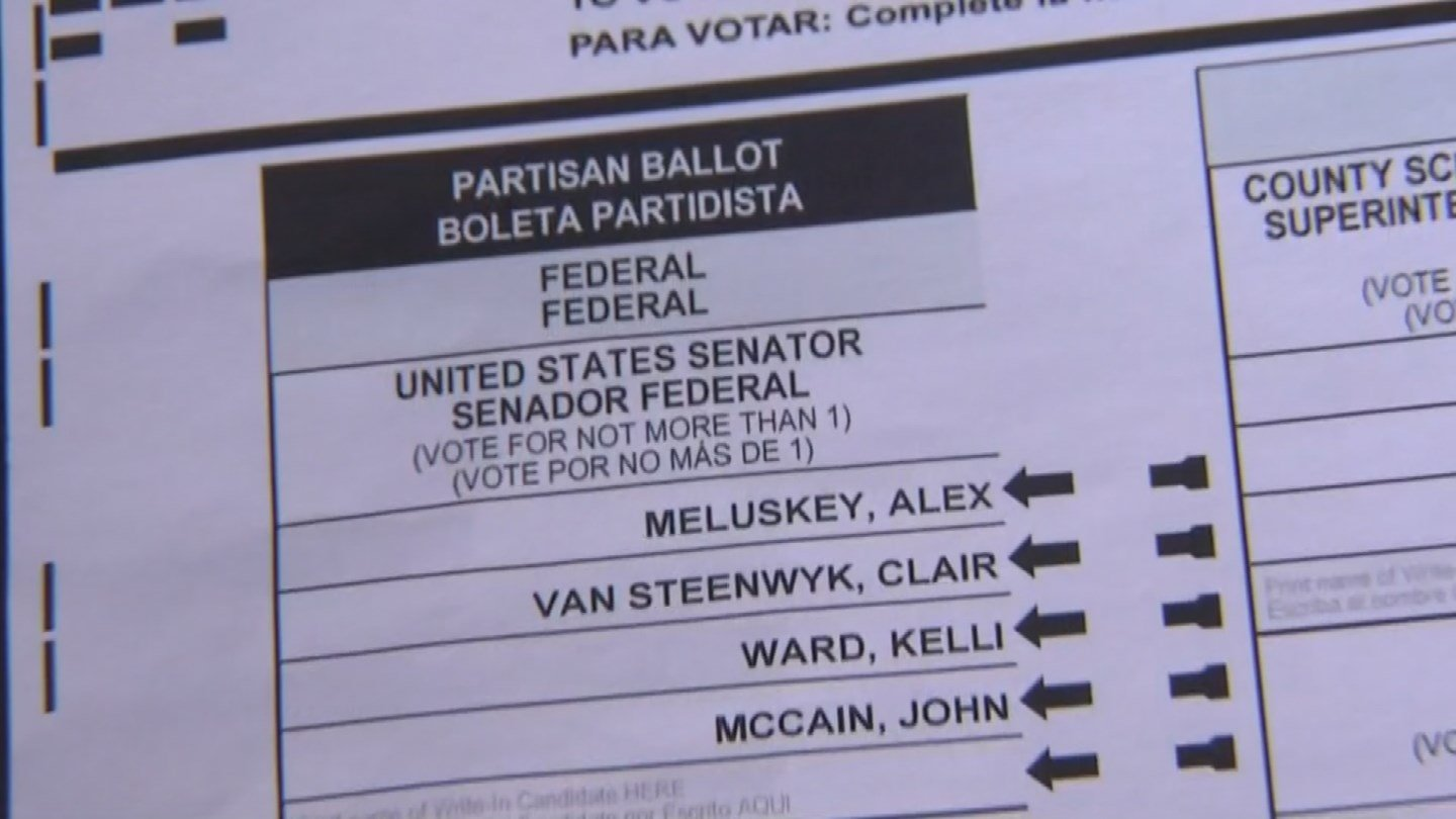It's not something that's supposed to happen on Election Day - poll workers misplacing a batch of ballots. (Source: KPHO/KTVK)