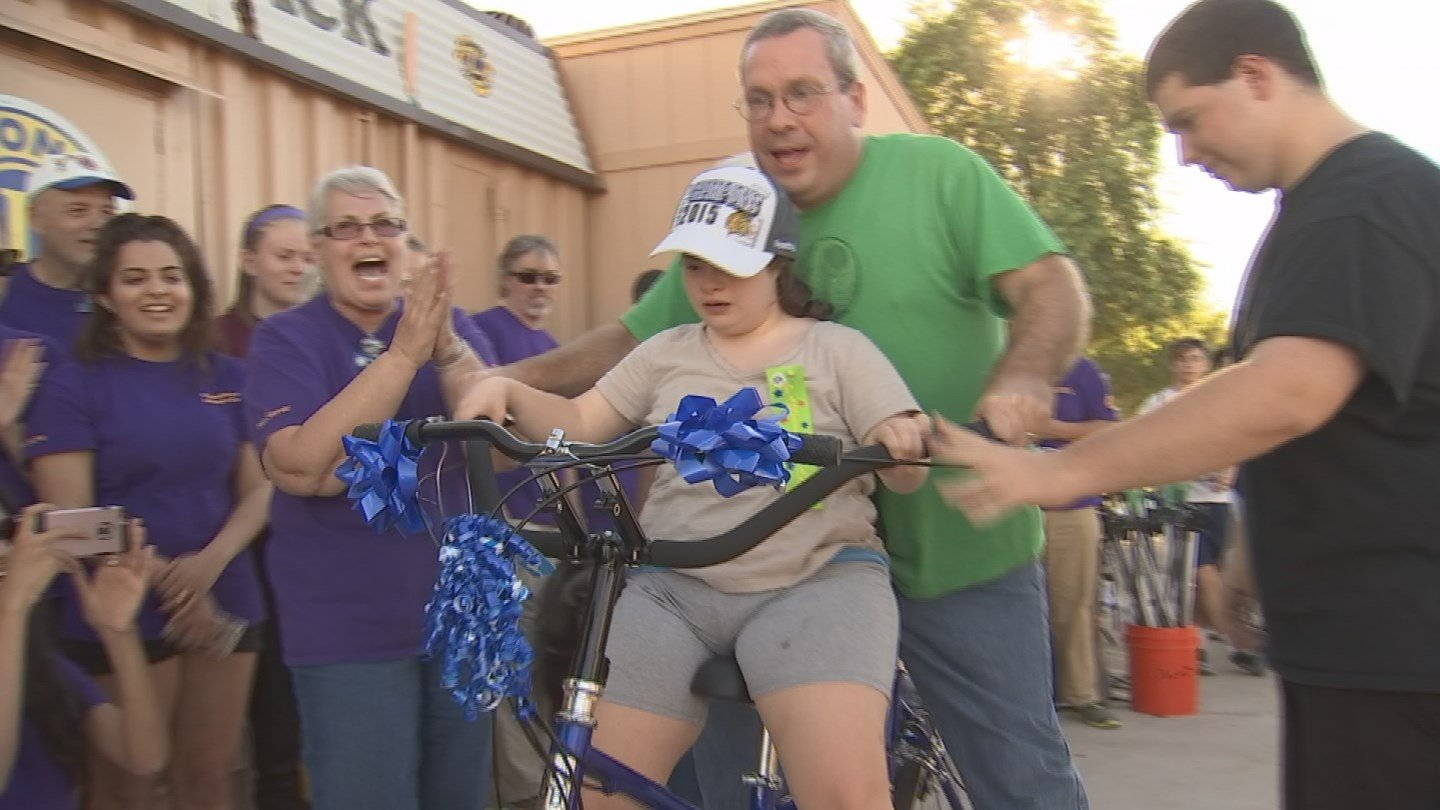 Leia took her new bicycle for a spin on Sunday. (Source: KPHO/KTVK)