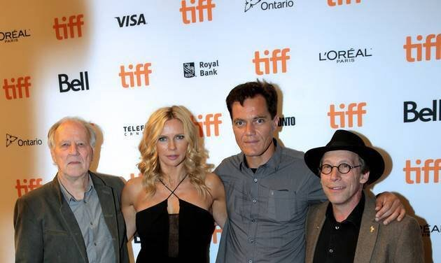 Krauss with Herzog, Veronica Ferres and Michael Shannon at the Toronto International Film Festival. (Source: Lawrence Krauss via Facebook)