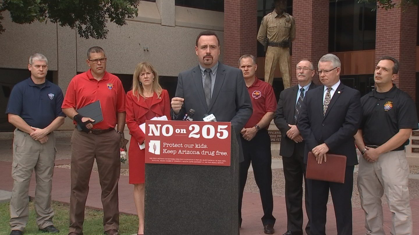 Opponents of Prop. 205 held a news conference on Tuesday. (Source: KPHO/KTVK)