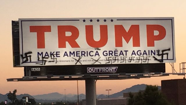 The billboard is off Interstate 10 near Jefferson Street, south of Sky Harbor International Airport. (Source: KPHO/KTVK)