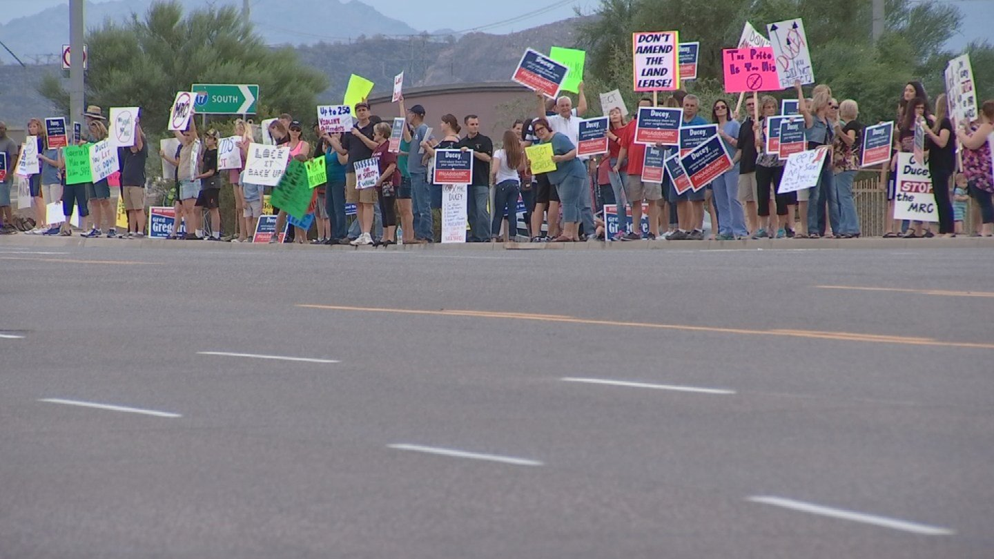 Protesters said their community doesn't have the resources for the reentry center. (Source: KPHO/KTVK)