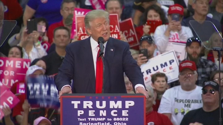 Donald Trump campaigns in Ohio. (Source: CNN)
