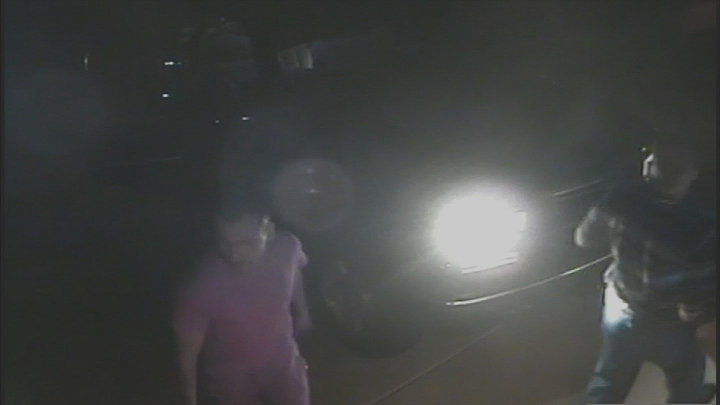 The suspected thieves parked in a neighbor's driveway in Ahwatukee that has a security system. (Source: KPHO/KTVK)