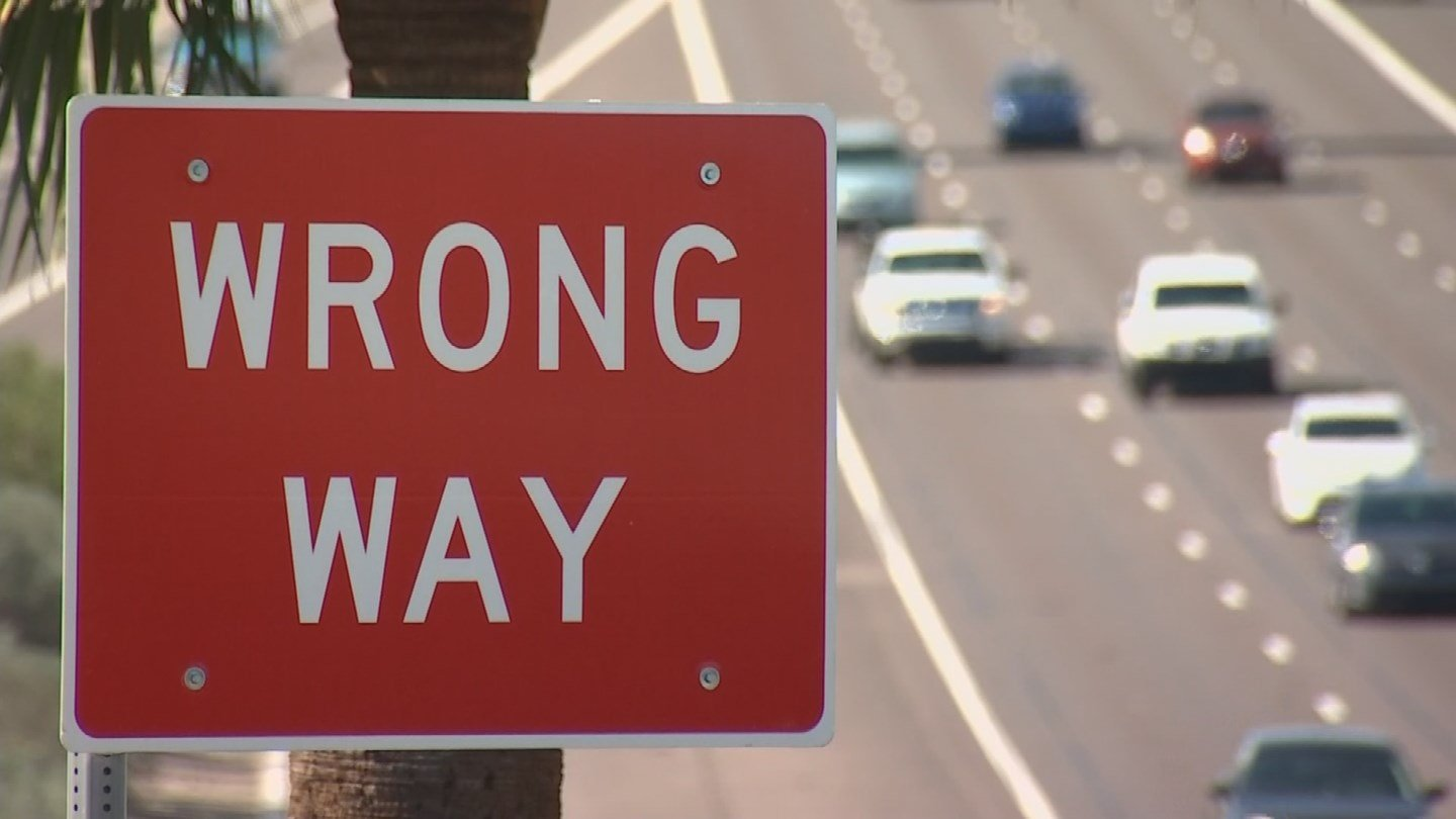 The Arizona Department of Transportation has put up more wrong way signs to help drivers. (Source: KPHO/KTVK)