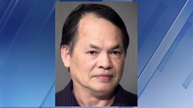 The suspect is Lam Tran, 57. Police took him into custody without incident at his home. (Source: Maricopa County Sheriff's Office)