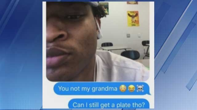"Jamal Hinton said he asked for a picture of ""his grandma."" (Source: KPHO/KTVK)"