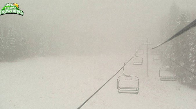 This is how the Agassiz Chairlift looked Monday morning. (Source: Snowbowl)