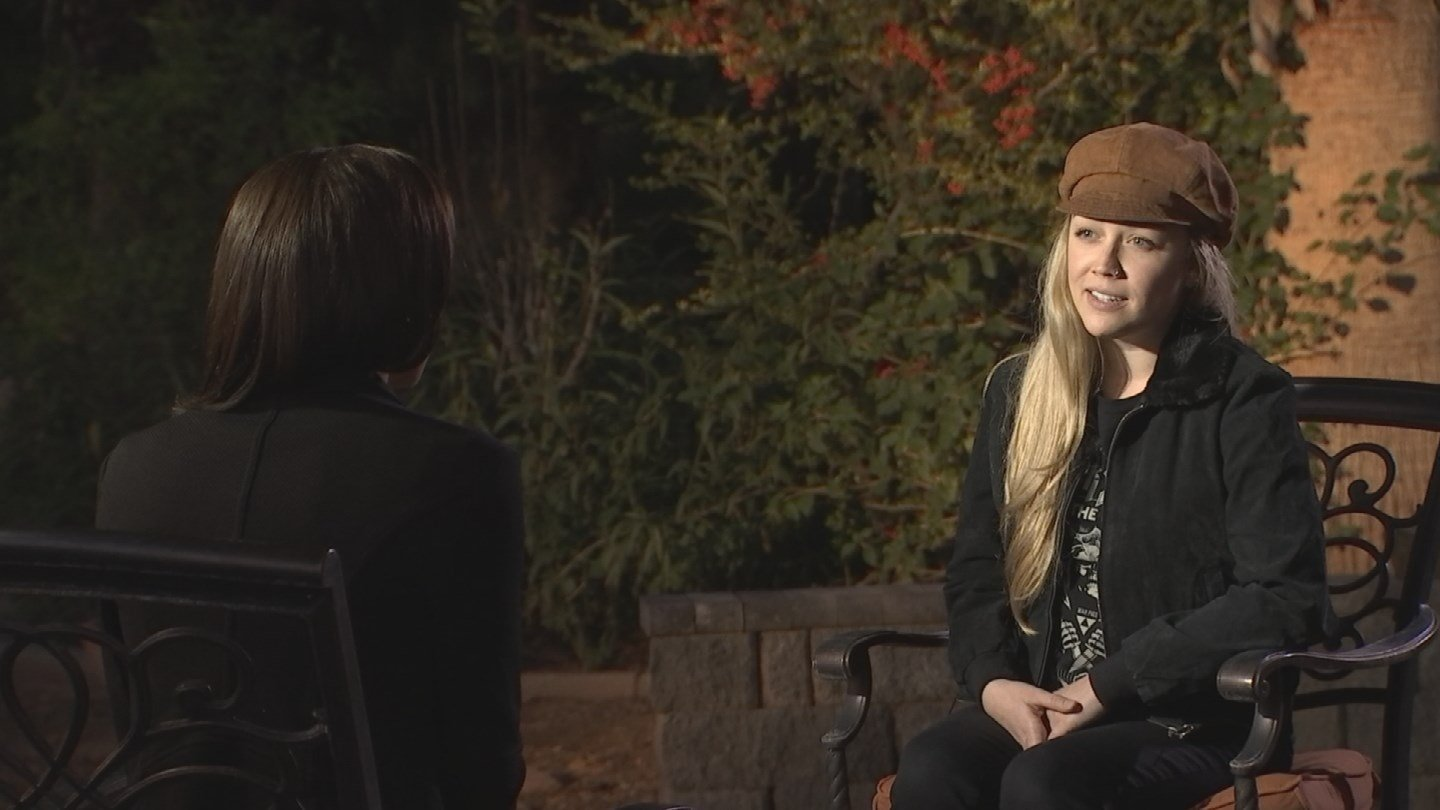 "Amelia Rose Sullivan said the recent clashes between police and protesters ""breaks"" her heart. (Source: KPHO/KTVK)"