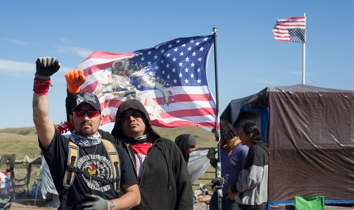 Amelia Rose Sullivan visited the pipeline protest in North Dakota during the summer. (Source: Amelia Rose Sullivan)