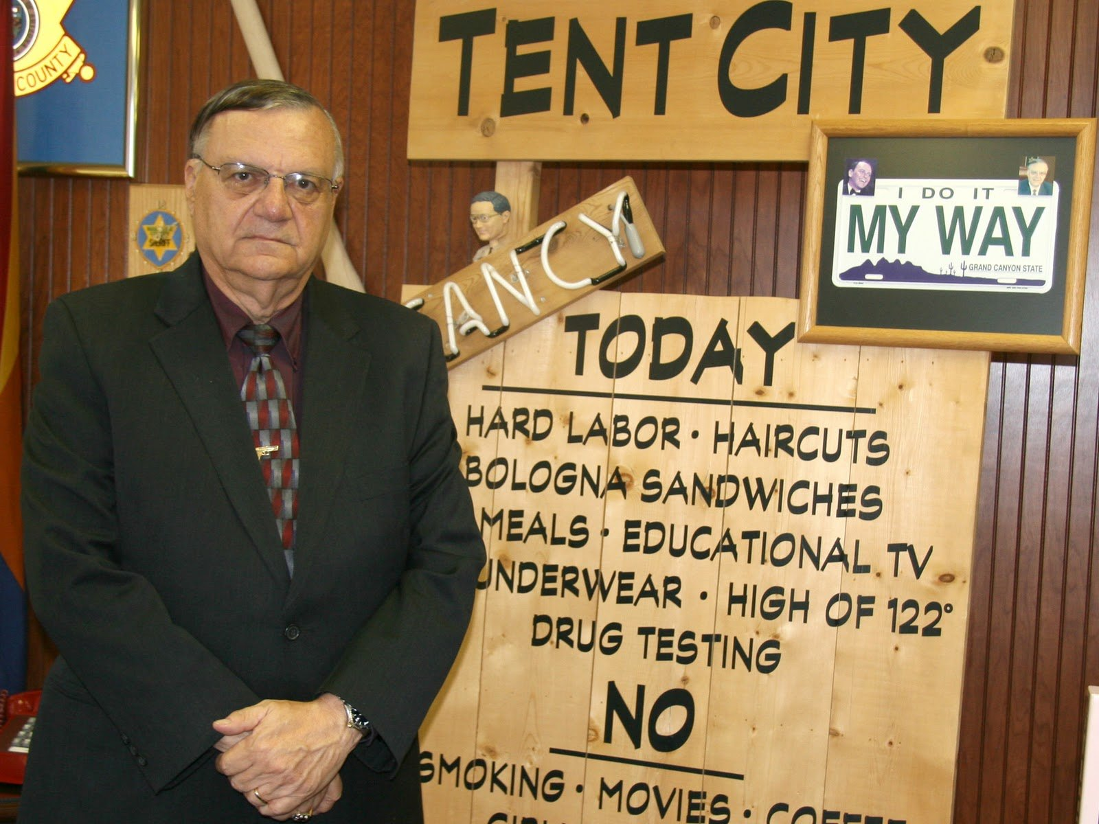 Establishing Tent City Jail was one of Arpaio's top three priorities when he first took office in 1993. (Source: KPHO/KTVK file)