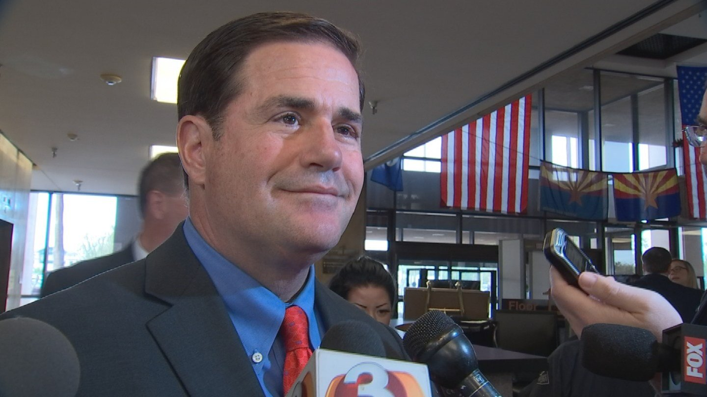 Gov. Doug Ducey was asked about the proposed Coyotes arena. (Source: KPHO/KTVK)