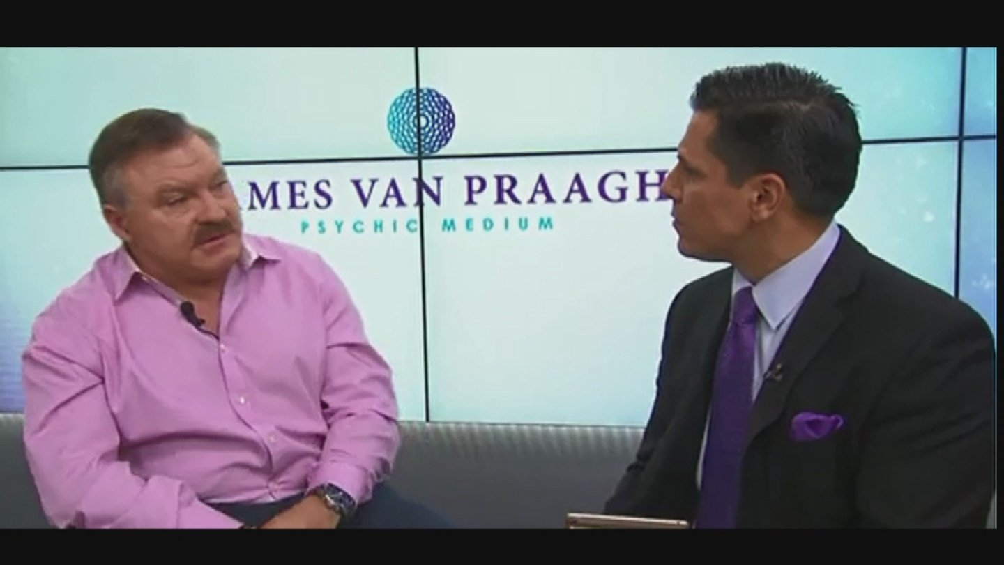 Well-known medium James Van Praagh said he might know a little something about Feldman's killer. (Source: KPHO/KTVK)