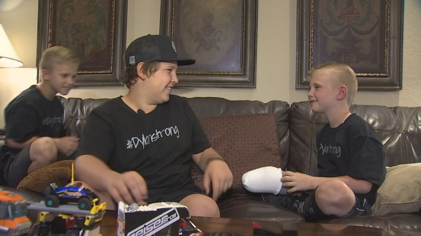 Dylan with his brothers, Parker and Gage. (Source: KPHO/KTVK)