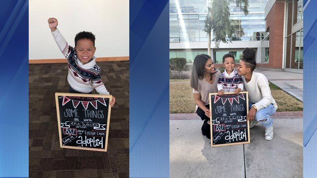 Michael Brown's reaction to being adopted has taken over the internet. (Source: KPHO/KTVK)