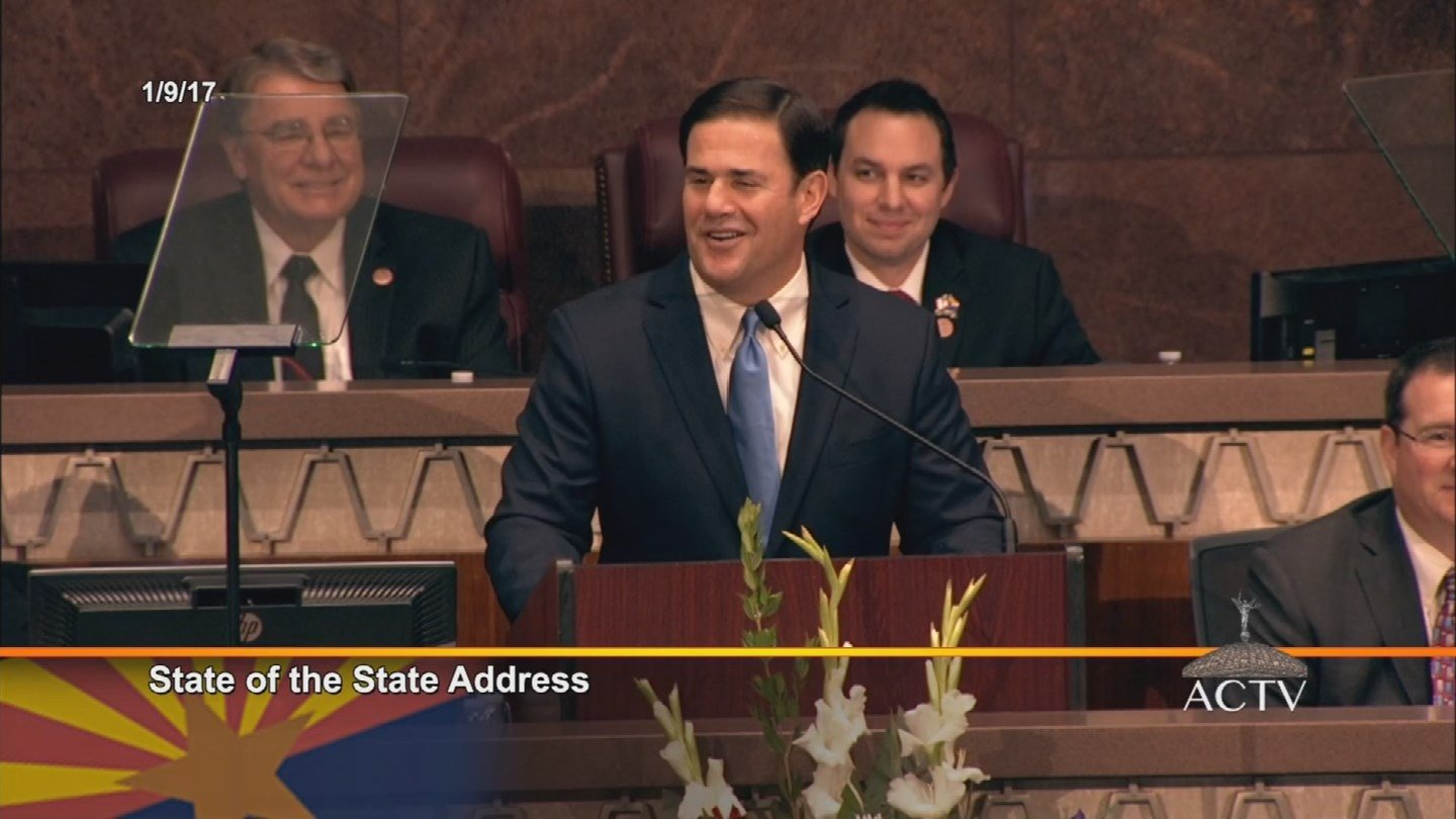 Gov. Doug Ducey delivered his third State of the State address on Monday. (Source: KPHO/KTVK)