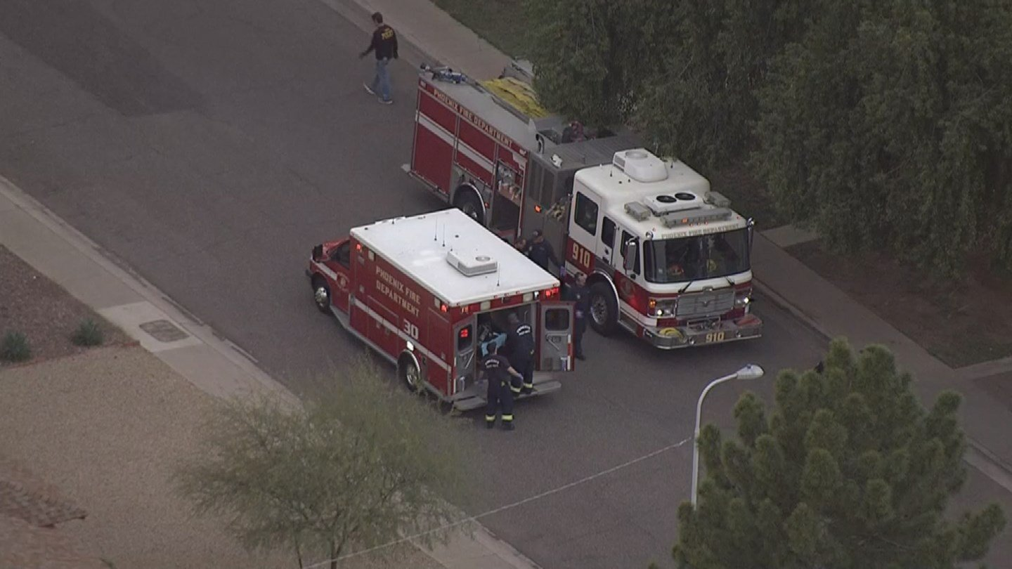 The suspect was rushed to the hospital in extremely critical condition. (Source: KPHO/KTVK)