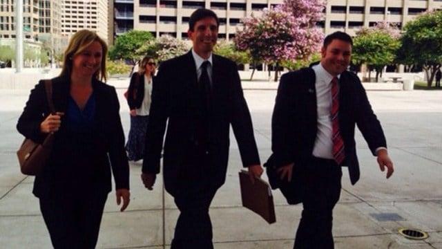 The defense team arrives for the verdict. (Source: KPHO/KTVK)