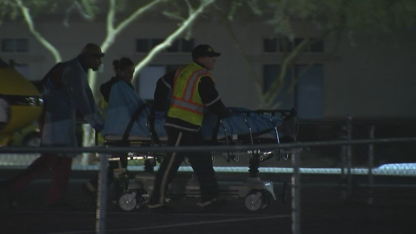 At least one person was air-lifted to the hospital. (Source: KPHO/KTVK)