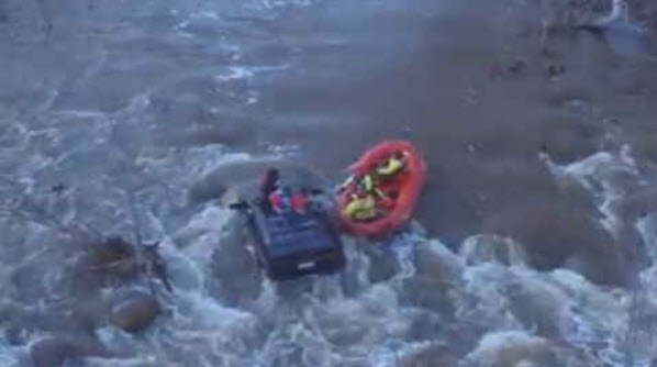 Sedona Fire District used a drone to help in a swift water rescue on Beaver Creek in Camp Verde. (Source: KPHO/KTVK)