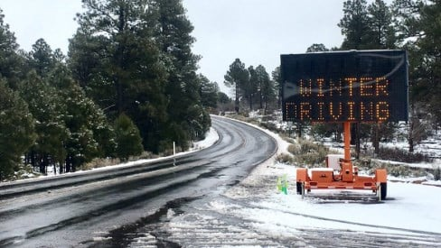 Highway 64 between Grand Canyon Village and Desert View. (Source: Grand Canyon National Park)