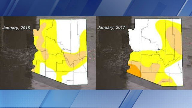 2 drought maps show the improvements in the High Country. (Source: 3TV/CBS 5)