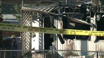 A 87-year-old woman was killed when a fire tore through her Mesa mobile home Thursday morning, and Christmas decorations could be to blame. By Catherine Holland