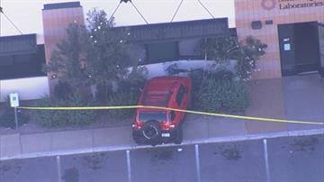 A car crashed into the Sonora Quest Laboratories building at Dobson and Frye roads in Chandler. By Jennifer Thomas