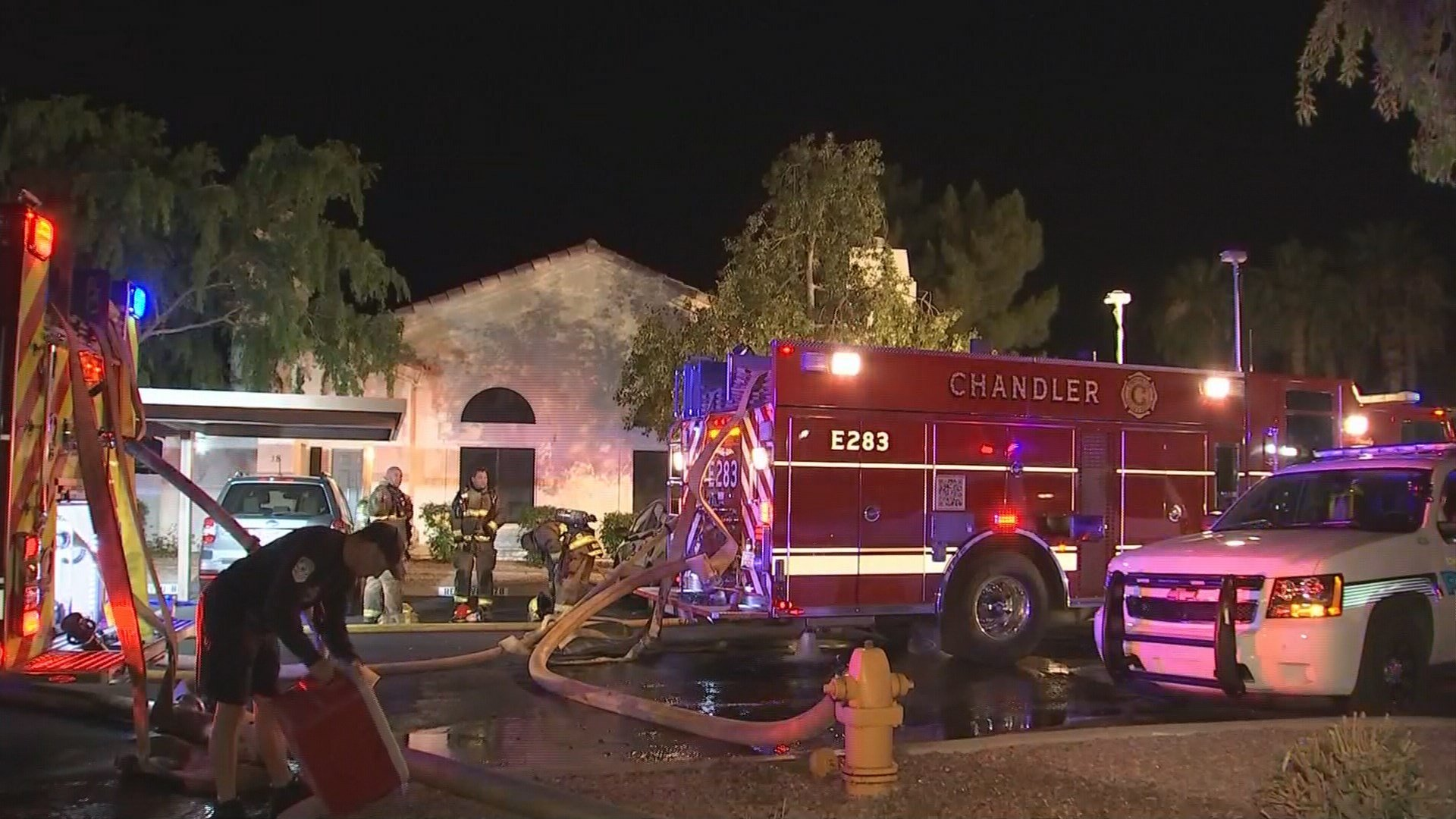 Crews contained the flames to one unit, but that unit was destroyed. (Source: KPHO/KTVK)