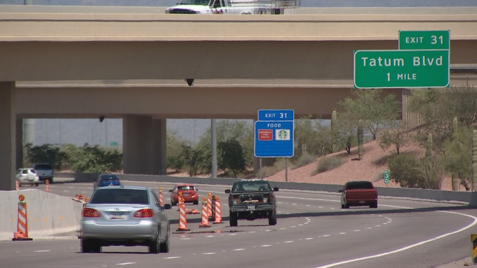 The HOV lanes from northbound 51 to Loop 101 will be closed for most of the summer. (Source: KPHO/KTVK)