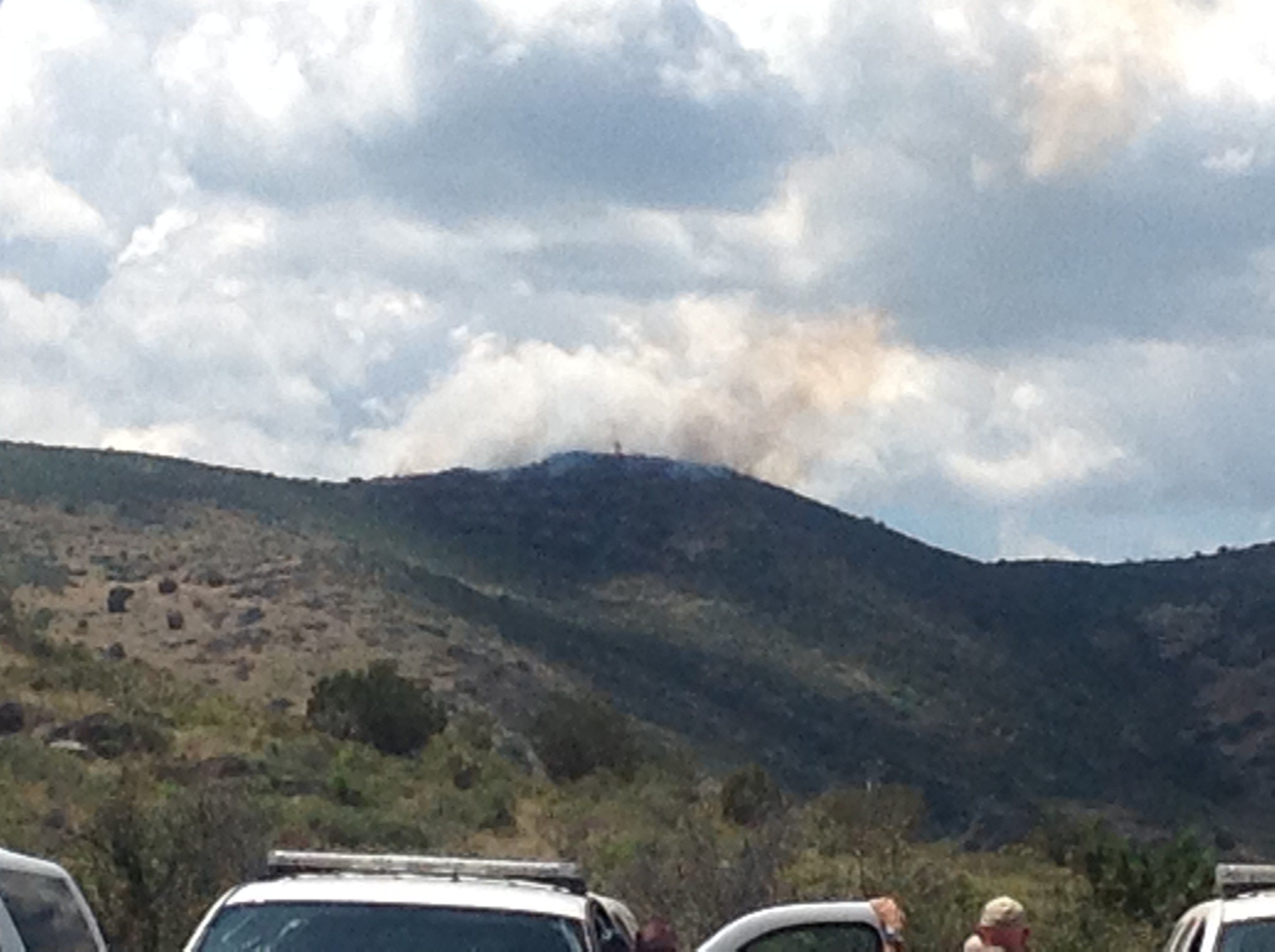 Mule Fire just outside Mayer, AZ.