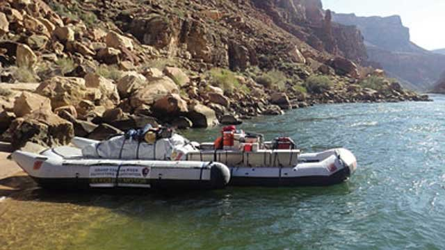 The first alternative motor boat river trip traveled the entire distance of the Colorado River through the Grand Canyon in April. (Source: Grand Canyon River Outfitters Association)